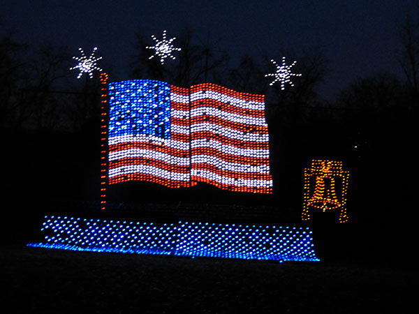 some of the lights were also along the main highway that borders the park - Oglebay Park Christmas Lights