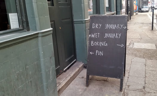 Dry January Sign08
