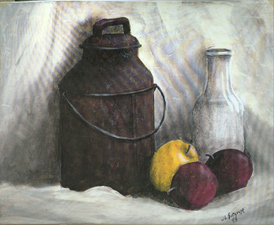 Milk Can Still Life