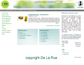De La Rue Intranet